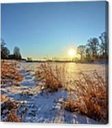 Winter At Mayne's Canvas Print