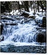 Winter At Mill Creek Falls No. 1 Canvas Print
