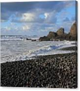 Winter At Sandymouth Canvas Print