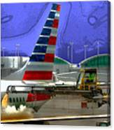 Winter At The Airport Canvas Print