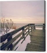 Winter At The Beach Canvas Print