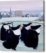 Winter At The Convent Canvas Print