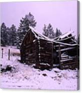 Winter At The Homestead Canvas Print