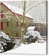 Winter At The Sudbury Grist Mill  Canvas Print