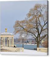 Winter At The Waterworks Canvas Print