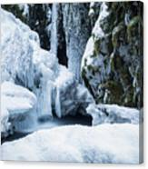 Winter At Virgin Creek Falls Canvas Print