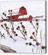 Winter Barn 2 Canvas Print