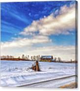 Winter Barn 3 - Paint Canvas Print