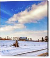 Winter Barn 3 Canvas Print
