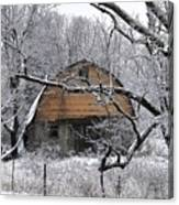 Winter Barn Iv Canvas Print