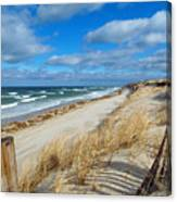 Winter Beach View Canvas Print