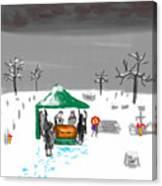 Winter Burial Canvas Print