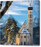 Winter Church In Bavaria Canvas Print