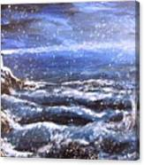 Winter Coastal Storm Canvas Print