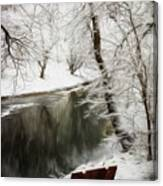 Winter Contemplation Watercolor Painting Canvas Print