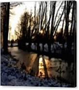 Winter Creek H B Canvas Print