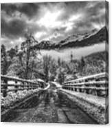 Winter Crossing Canvas Print