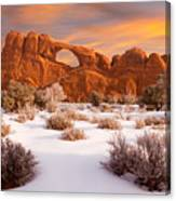 Winter Dawn At Arches National Park Canvas Print