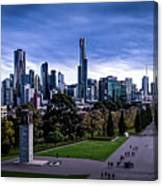 Winter Day In Melbourne Panorama Canvas Print