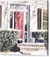 Winter Door Canvas Print