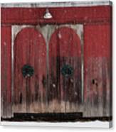 Winter Doors Canvas Print