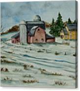Winter Down On The Farm Canvas Print