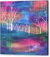 Winter Embraces Spring Canvas Print