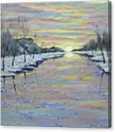 Winter Expression Sunrise Canvas Print