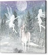 Winter Fairy Magic Canvas Print