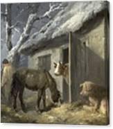 Winter Farmyard Canvas Print