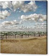 Winter Fences In Grand Haven 3.0 Canvas Print