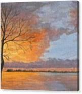 Winter Fire Canvas Print