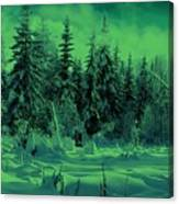 Winter Forest Dream At Dusk Canvas Print