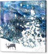 Winter Forest Scene Canvas Print