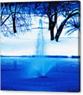 Winter Fountain 2 Canvas Print