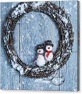 Winter Garland Canvas Print