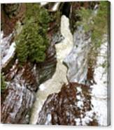Winter Gorge Canvas Print