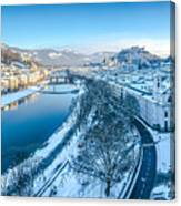 Winter Greetings From Salzburg Canvas Print