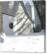Winter Holiday At The Farm. Canvas Print