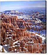 Winter Hoodoos Canvas Print