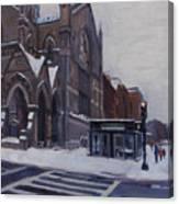Winter In Boston Canvas Print