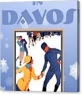 Winter In Davos Canvas Print