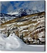 Winter In East Vail Canvas Print