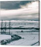 Winter In Iceland Canvas Print