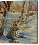 Winter In Mat Canvas Print