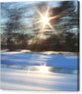 Winter In Motion Canvas Print