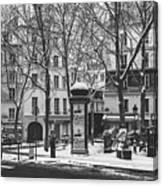 Winter In Paris Canvas Print