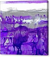 Winter In Purple And Silver Canvas Print
