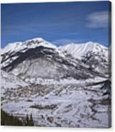Winter In Silverton Colorado Canvas Print