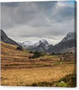 Winter In Snowdonia Canvas Print
